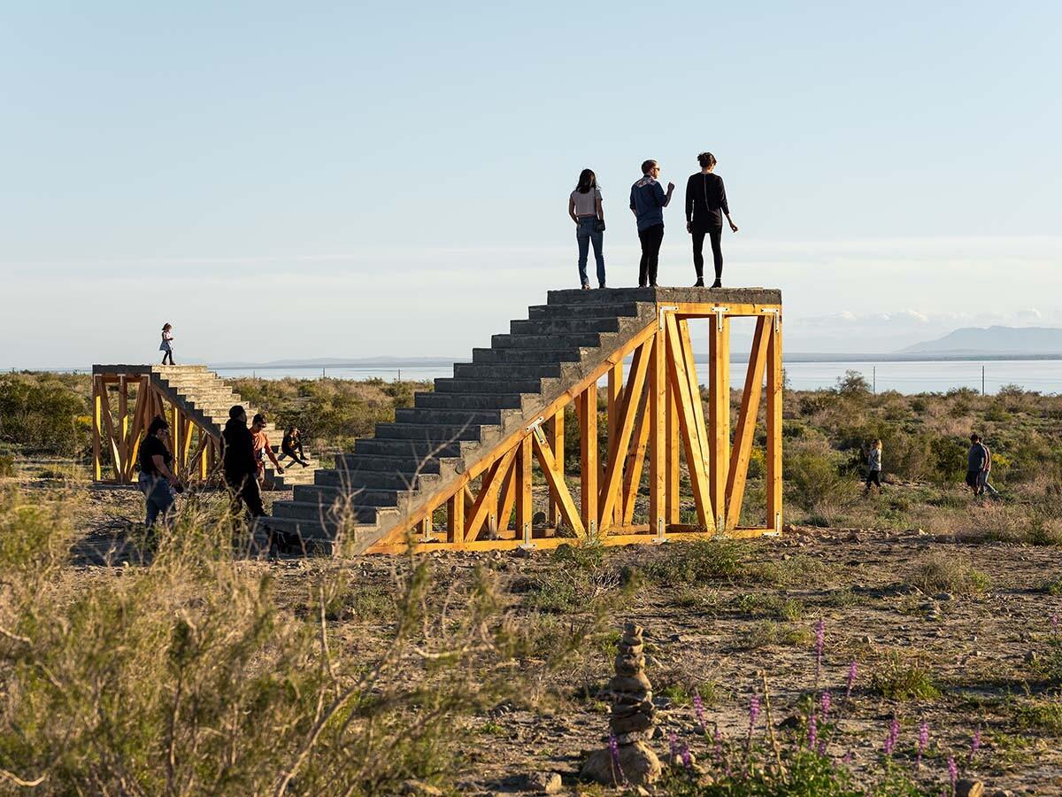 Desert X installation view, Iván Argote, A Point Of View, 2019   Lance Gerber, courtesy of Desert X