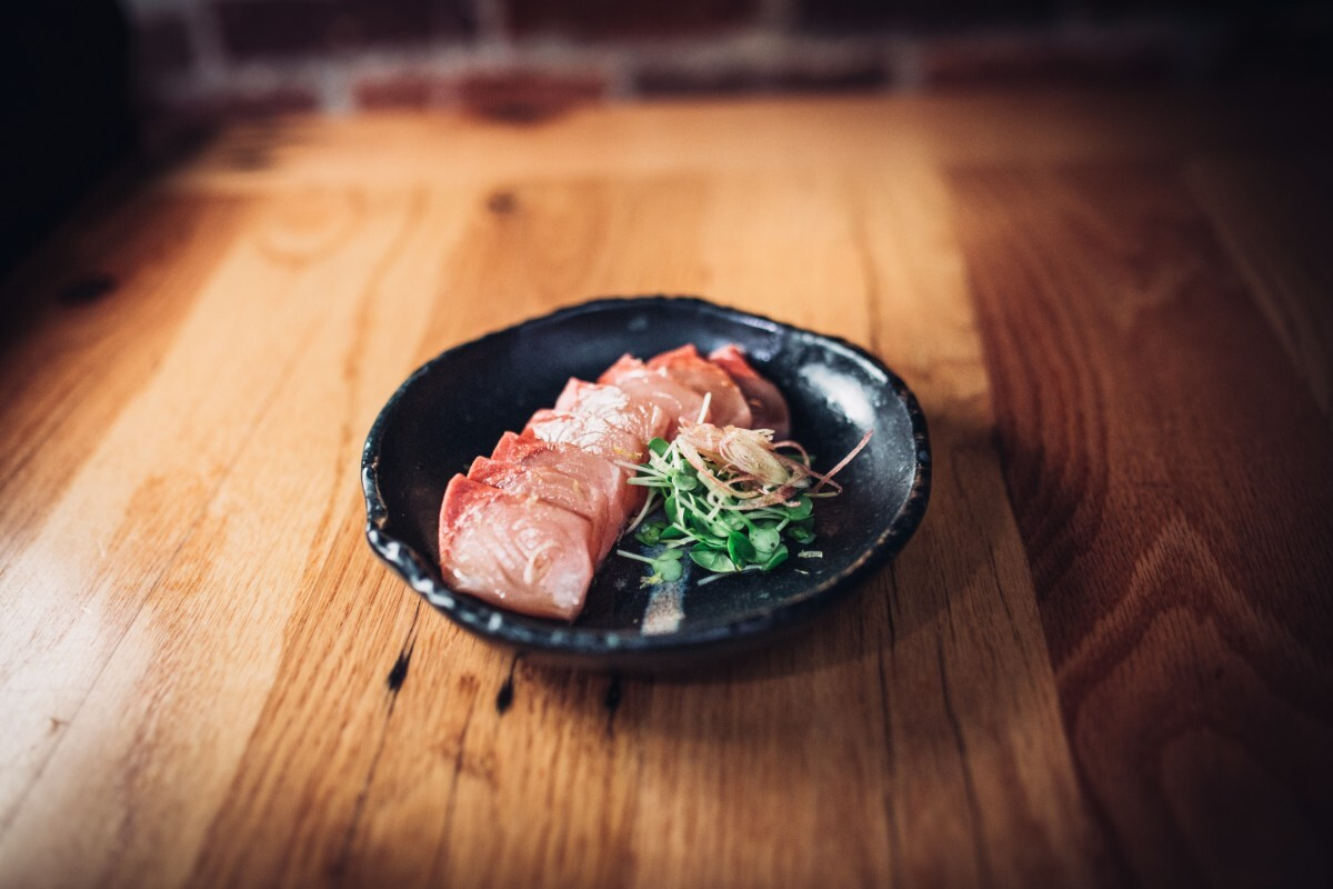 Hiramasa sashimi with aged soy from Tsubaki | Courtesy of Life & Thyme