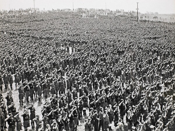 Tens of thousands of Boy Scouts attended a jamboree on the Irvine Ranch in Orange County in 1953. Courtesy of the Watson Family Photographic Archive.