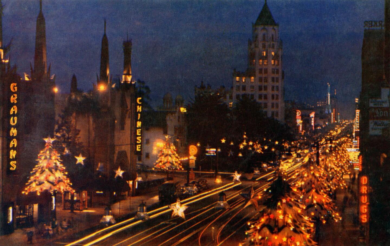 Hollywood Boulevard as Santa Claus Lane