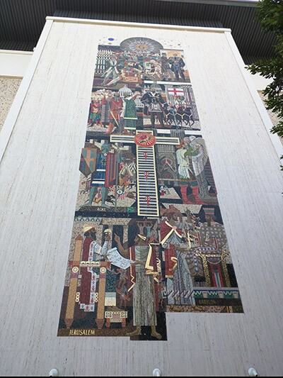 Mural at the Masonic Temple / James Bartlett