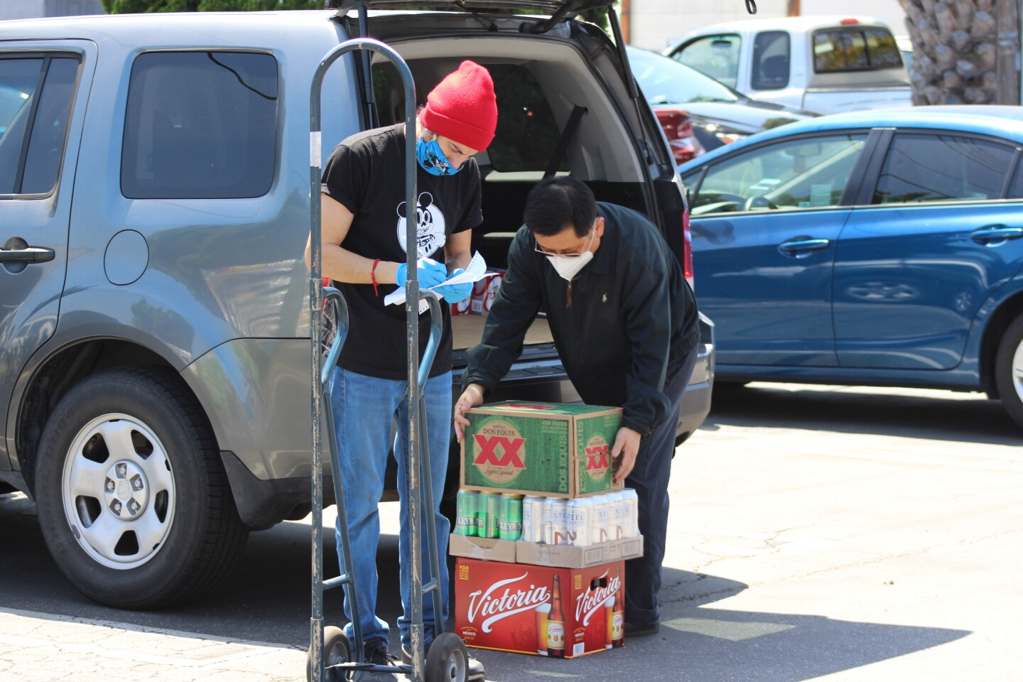 Curbside purchasing of alcohol is booming in the time of COVID-19.   Karen Foshay