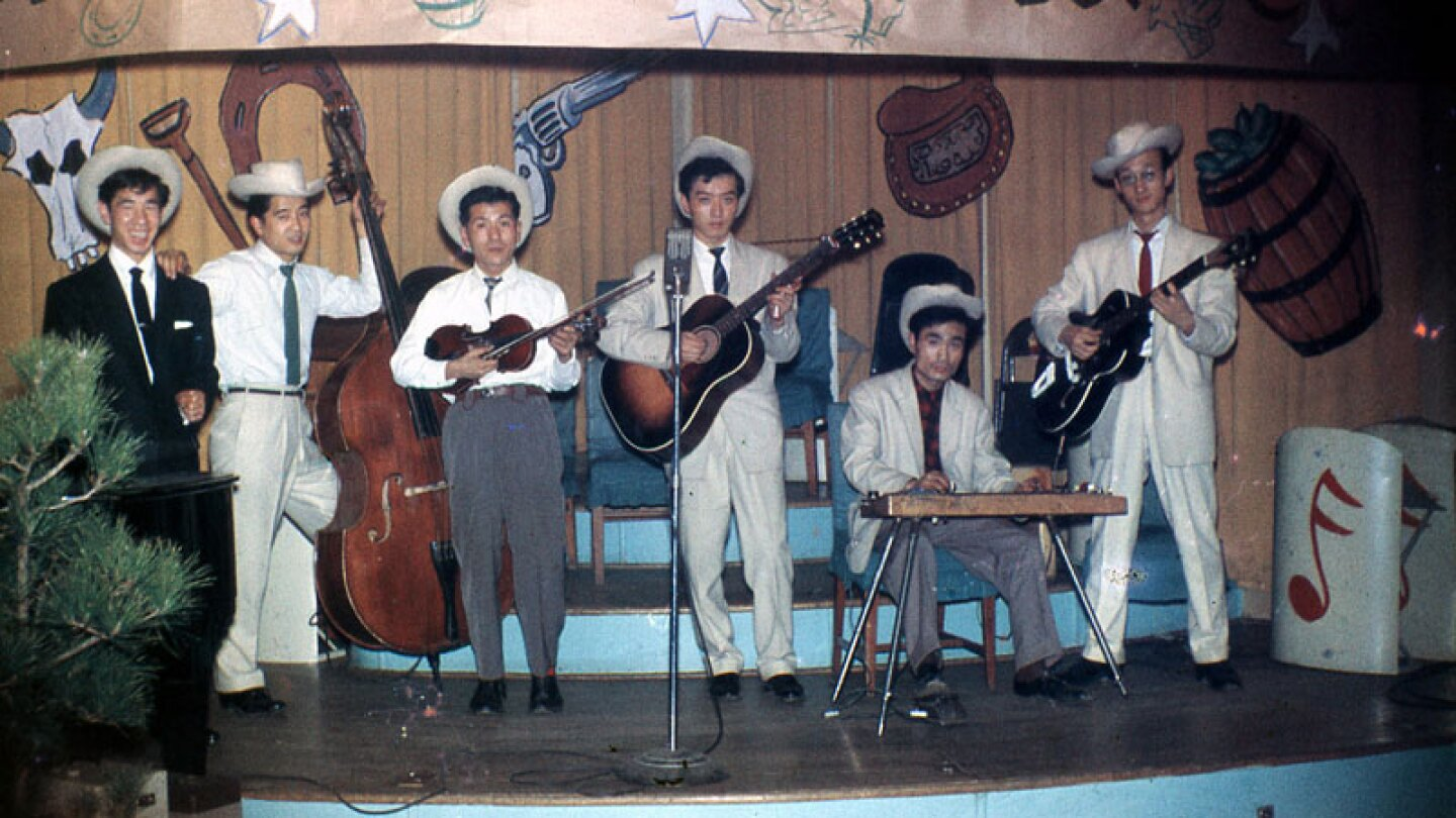 Blue Rangers at the EM Club in Yokosuka, ca. early 1960s | courtesy of J.T. Kanehira.