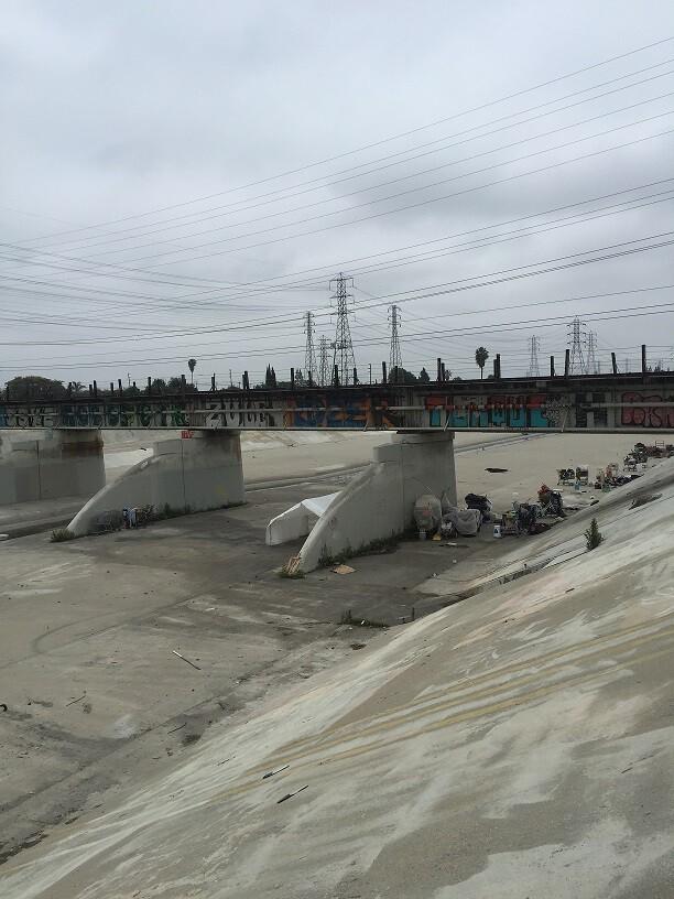 Homeless Along LA River (1)