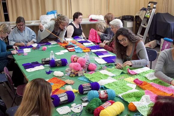 "Making ""CAFAM Granny Squared."" | Photo courtesy of YBLA."