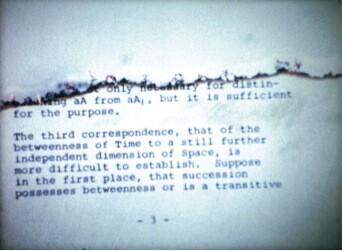 <em>A Reading</em>, 1973. 16mm film, color, sound. 7:48. Film stills courtesy of OCMA, Galerie Daniel Buchholz, and the Estate of Jack Goldstein.<br />