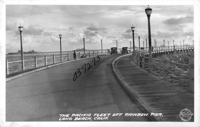 Another postcard depicting the Rainbow Pier. Courtesy of the Pomona Public Library - The Frasher Foto Postcard Collection.
