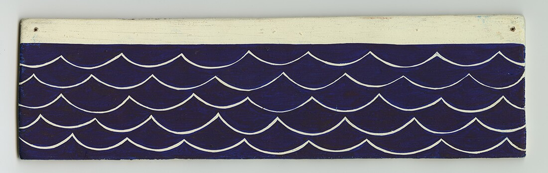 Margaret Kilgallen Untitled acrylic on wood panel 312x12 inches
