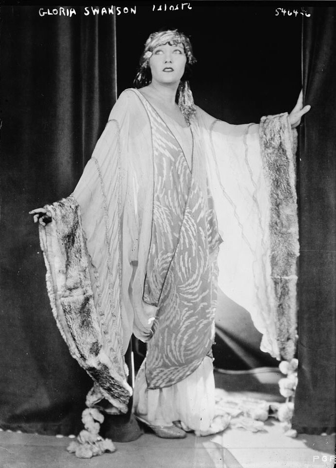 Undated photo of Gloria Swanson, courtesy of the George Grantham Bain Collection (Library of Congress).