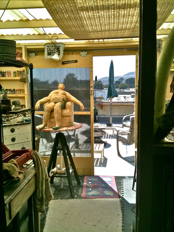 Looking out on Elle-jé's studio.