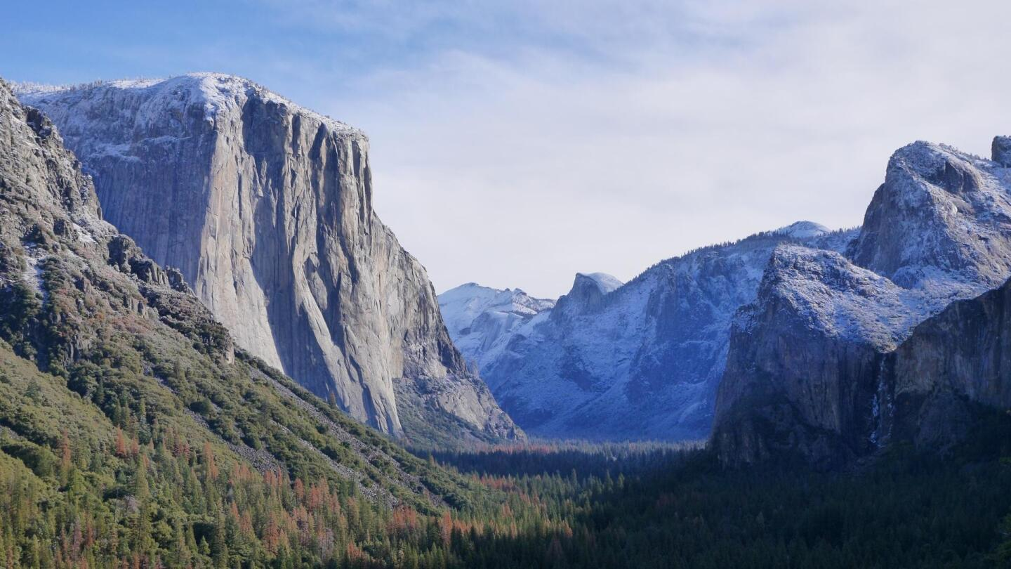 A still of a mountainous scene in Yosemite.