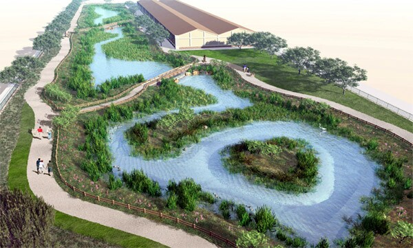A rendering of how the South Los Angeles Wetlands Nature Park will be eventually realized I Image courtesy of City of Los Angeles Stormwater Program