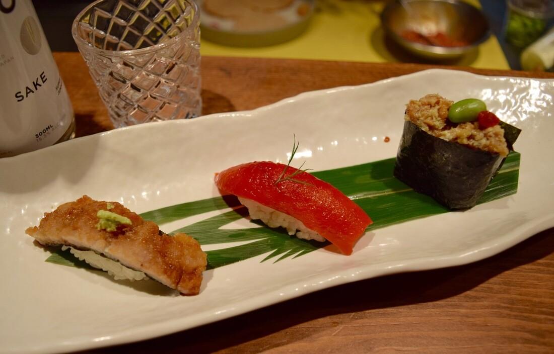 Vegan sushi at Necco