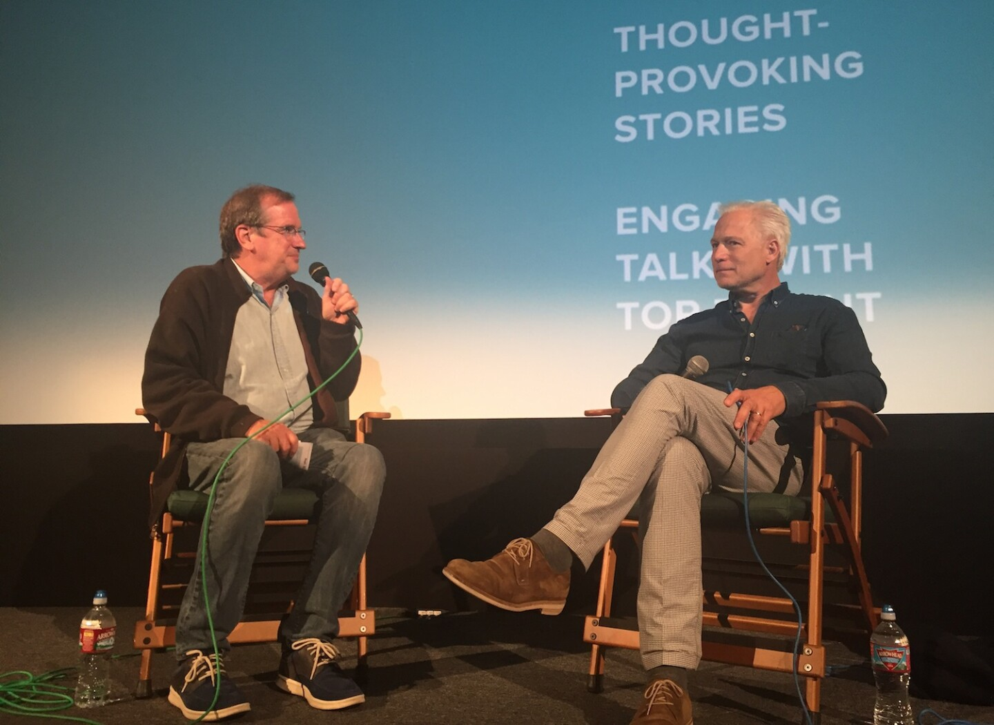 """Pete Hammond and """"A Man Called Ove"""" Director Hannes Holm"""