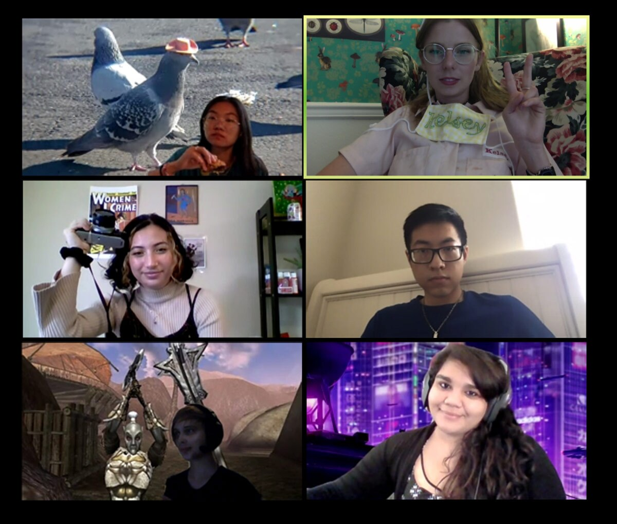 UCI Art Thesis Cohort Interview Series featuring Cristina Barragan, Joanna Koo, Kelsey Aileen Kuykendall, Gabriella Salinardo, Ryan Wang and  Lily Welling. | Courtesy of UCI Claire Trevor School of the Arts