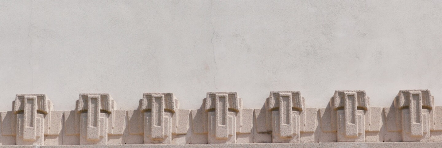 Detail of the Hollyhock House | Still from FLW AB s9