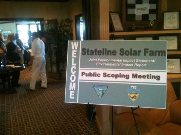 First Solar Stateline Scoping Meeting | Photo courtesy Basin and Range Watch