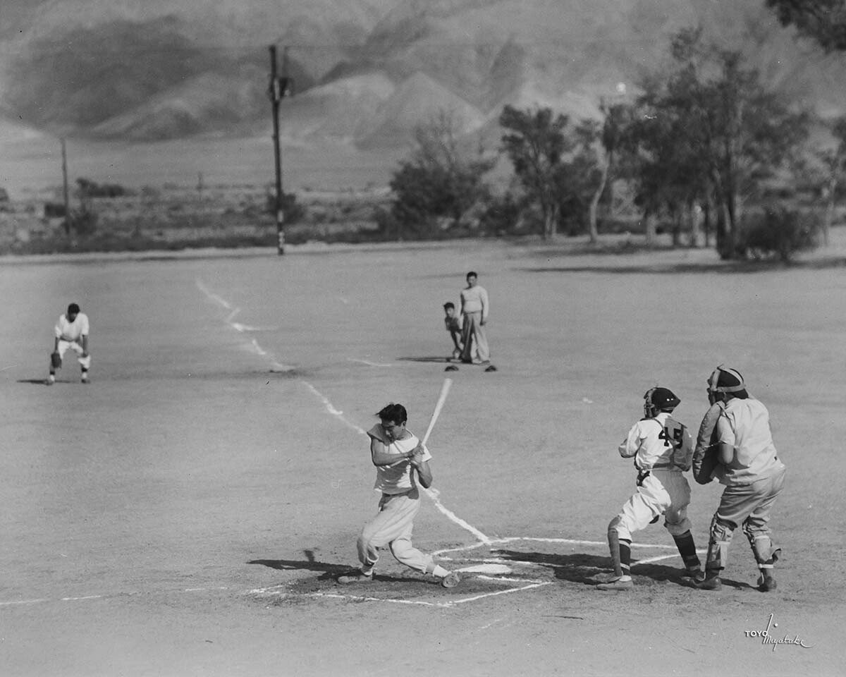 Baseball at Manzanar | Courtesy of Toyo Miyatake Studio