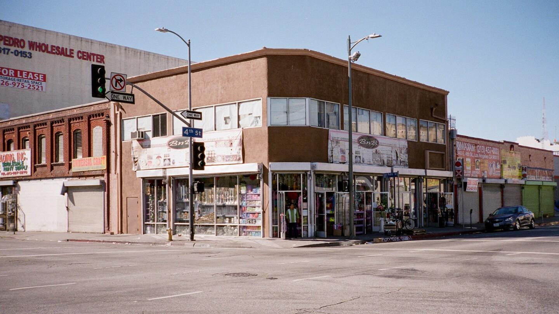 SW Corner of S. San Pedro Street & E. 4th Street