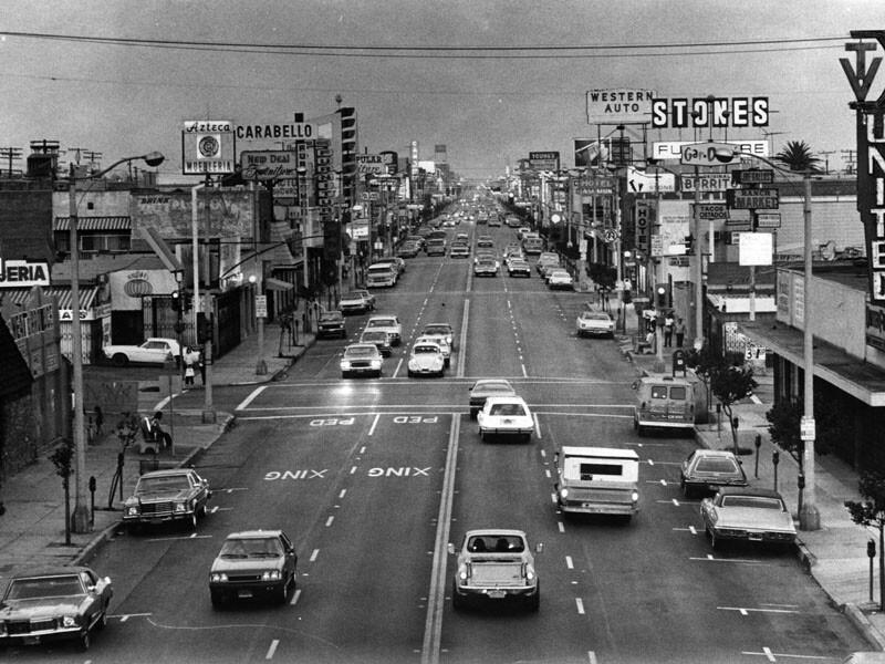 Whittier Boulevard, East Los Angeles, 1979
