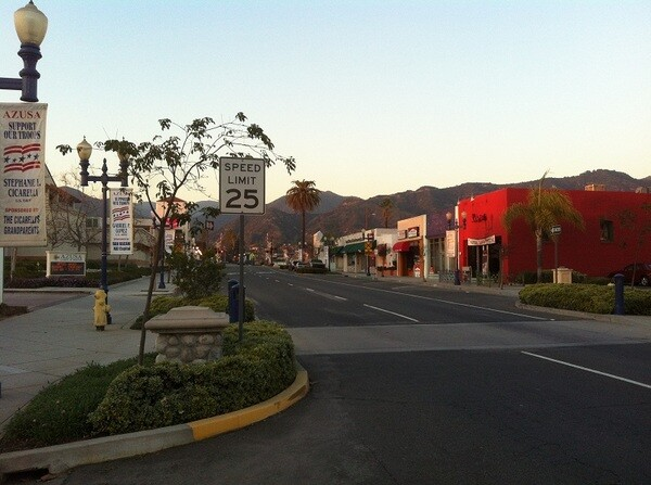 Route 66 and Highway 39 - Downtown Azusa