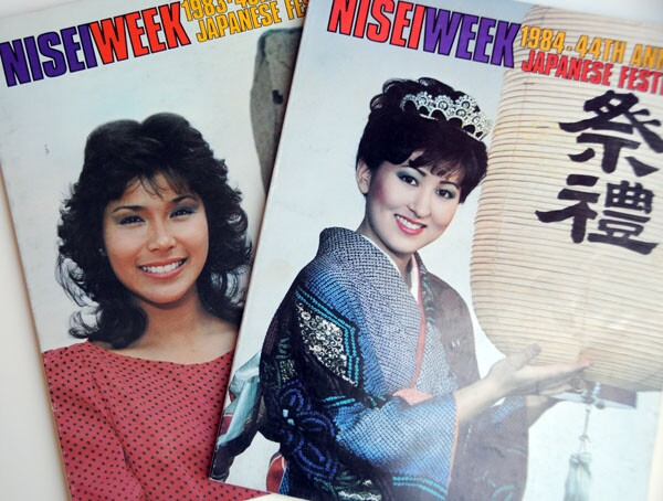 The Nisei Week Queen's face graced the cover of the annual Nisei Week commemorative booklet, at one point a calendar, as well as other promotional items that surveyed and promoted business in the area | Courtesy of Tracy Ahn