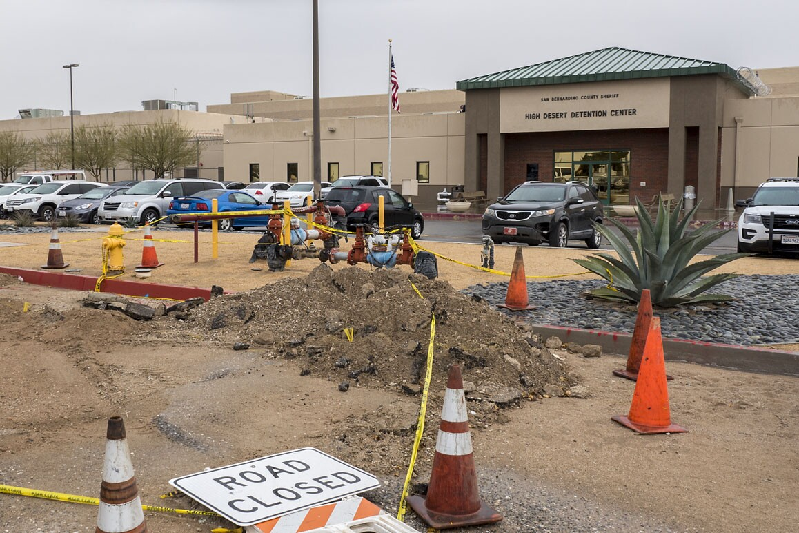 San Bernardino County Sheriff's High Desert Detention Center is one of three prison complexes sited within Adelanto's city limits. Photo: Kim Stringfellow.