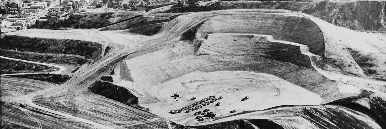 Dodger Stadium under construction