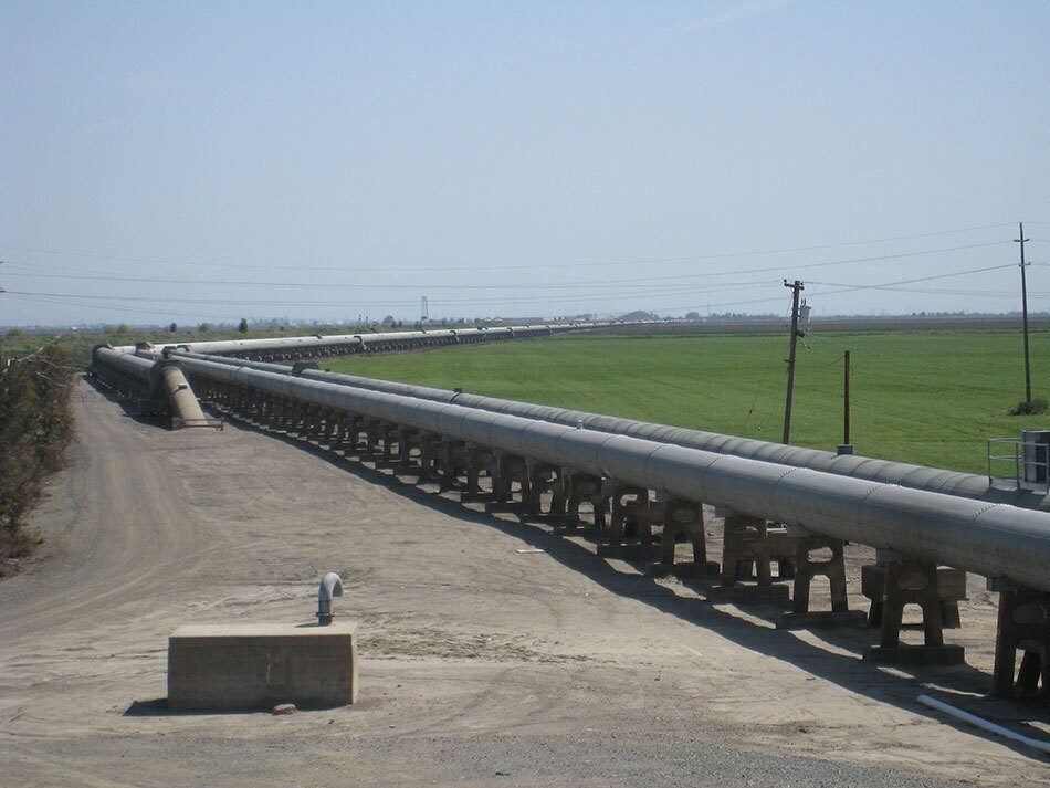 Above-Ground Pipes Carrying Water