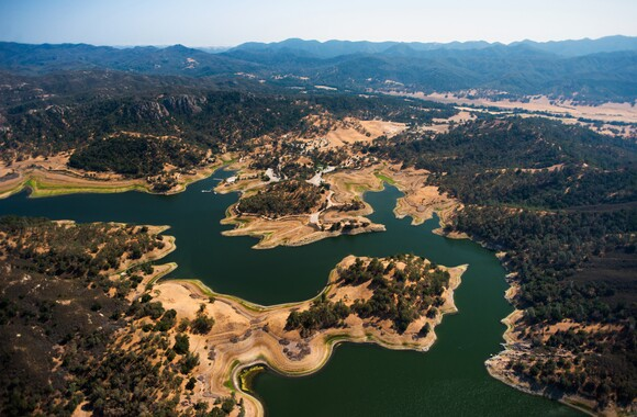 An aerial view of Santa Margarita Lake southeast of Santa Margarita. | Photo: Brittany App.