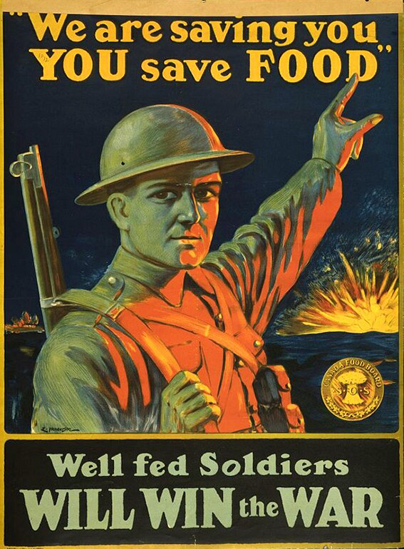 We are saving you, you save food | Courtesy of the Library of Congress