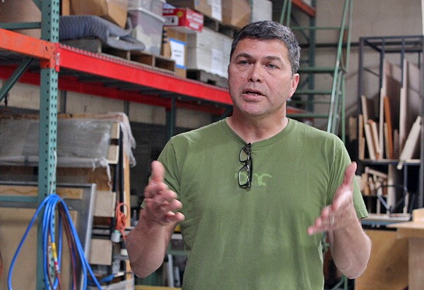 Rick Cortez answers students' questions during tour of Studio