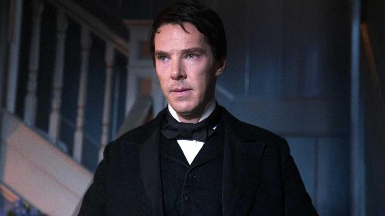 "Benedict Cumberbatch in costume in ""The Current War"""