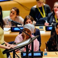 Amal Clooney & Nadia Murad addressing the UN