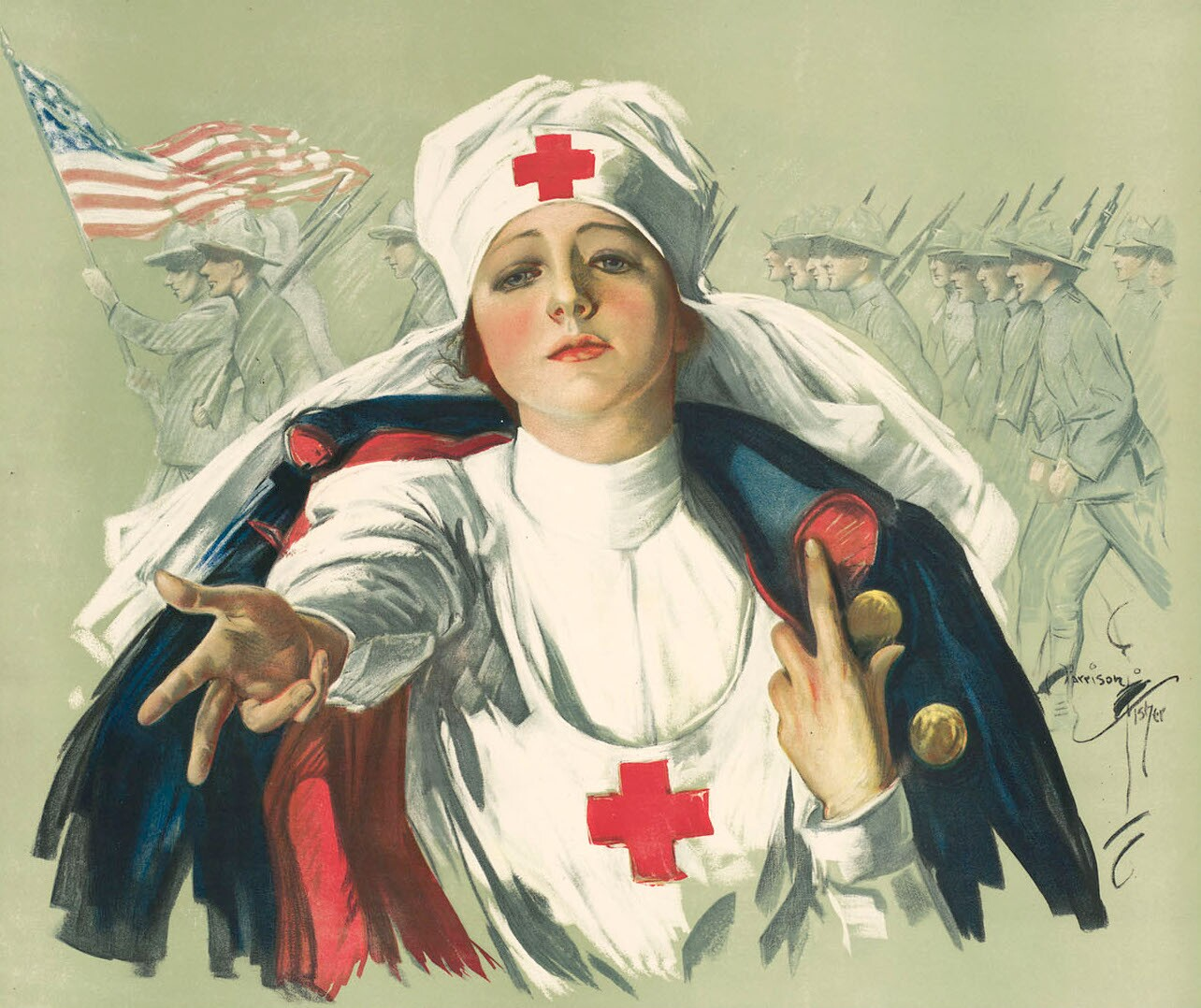 Poster of a Red Cross nurse (1918)