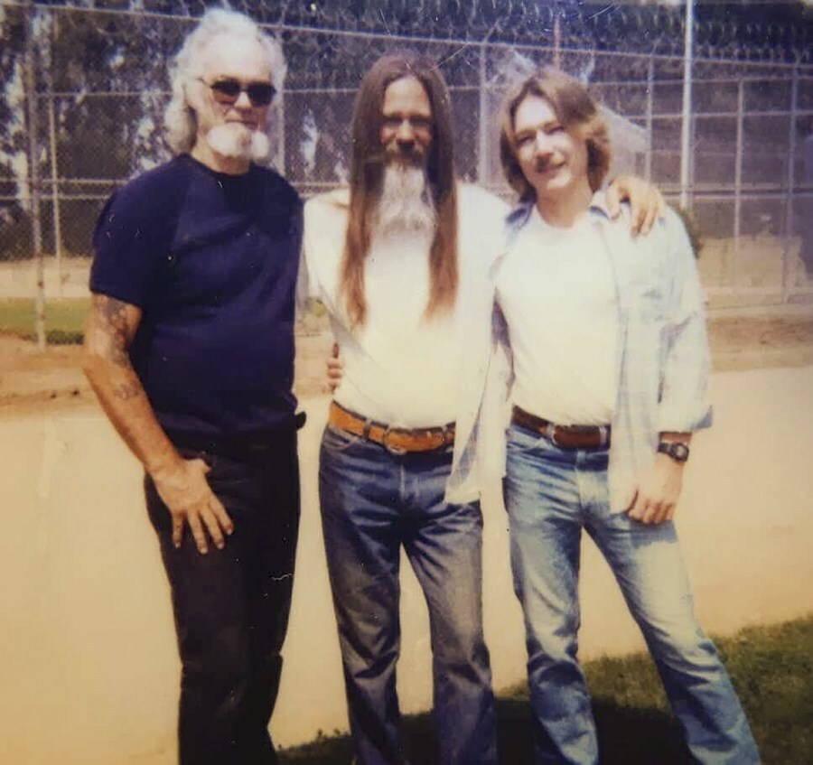 Vance, right, in a photo taken in 1986, has been eligible for parole for more than two decades and has multiple medical concerns but has not qualified for early release from San Quentin.   Courtesy of Vance, via CalMatters