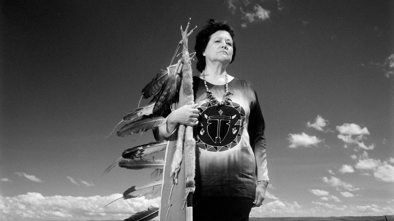 Blackfeet warrior Elouise Cobell poses. | Photo credit Karen Kuehn