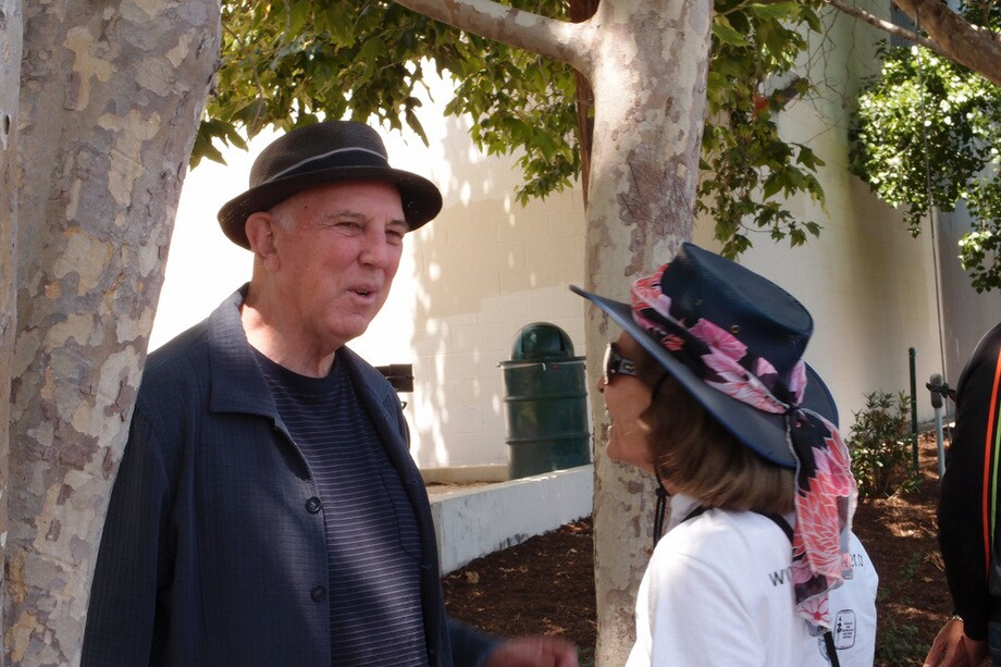 Lewis MacAdams, poet and co-founder of Friends of the L.A. River, was on hand to celebrate the opening of the Recreation Zone