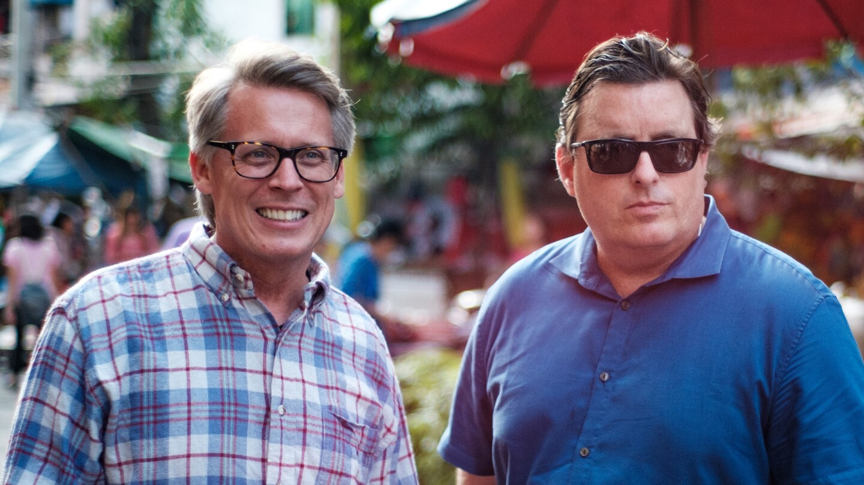 """Hosts of """"The Good Road"""" Earl Bridges and Craig Martin."""
