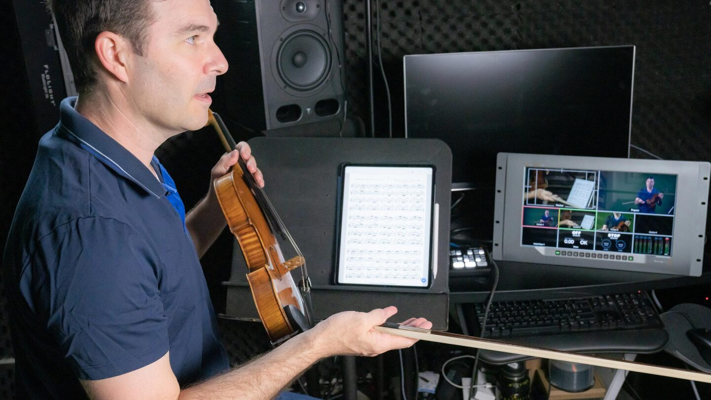 Nathan Cole teaches online violin classes. | Courtesy of Nathan Cole