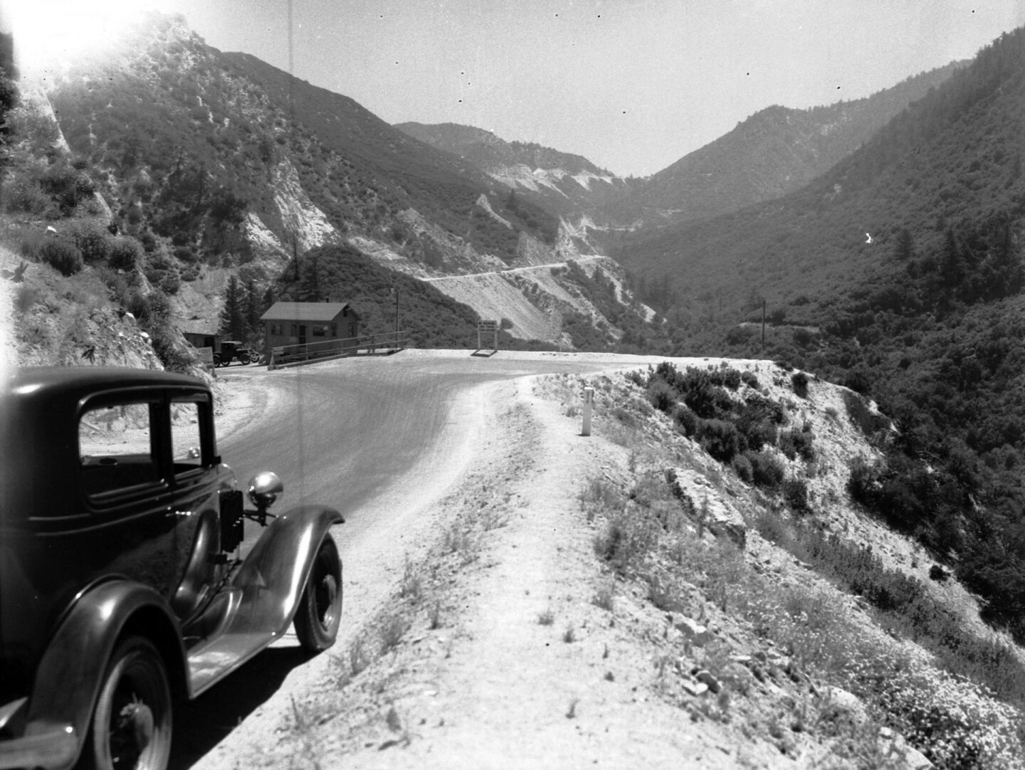 The Angeles Crest Highway between Colby Canyon and Red Box