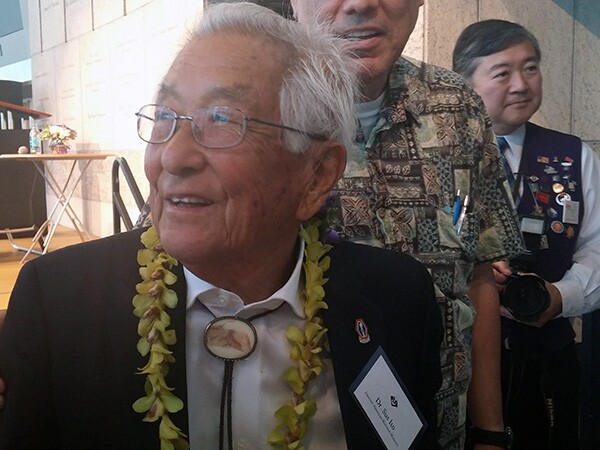 Dr. Sus Ito, following a July 12 speaking event at JANM, where he discussed his life, the war, and his photographs. | Photo: Elson Trinidad
