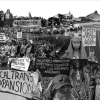 A black and white collage of women and femme environmental activists.