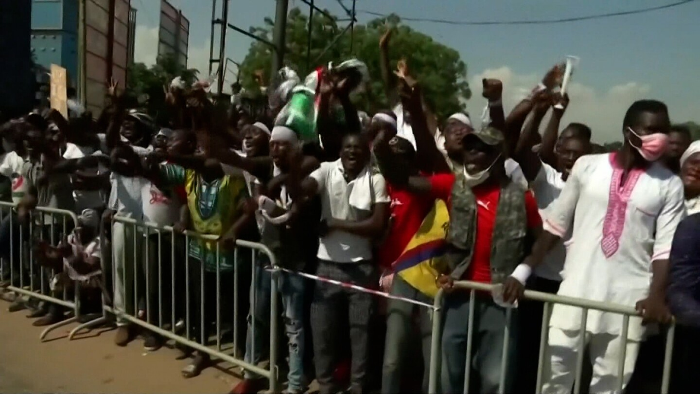 Demonstrators in Ghana protest against election results.