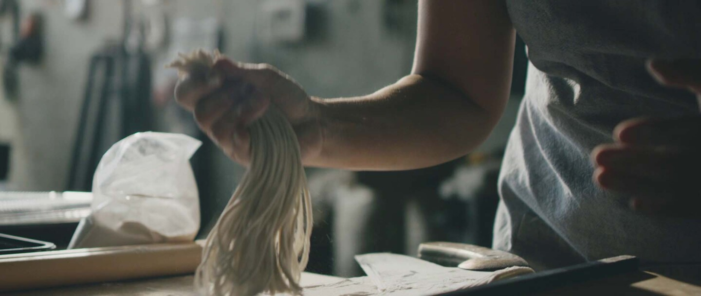Sonoko Sakai making soba | Courtesy of Life & Thyme