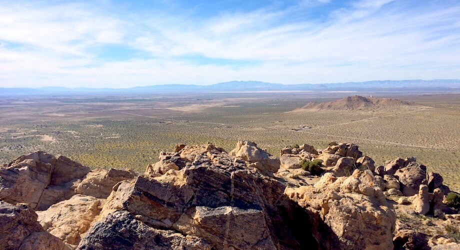 The view from the top of Saddleback Butte Peak. (Tip: lookout for the trail register in a plastic bottle and for at least two USGS survey markers.) | Photo: Zach Behrens/KCET