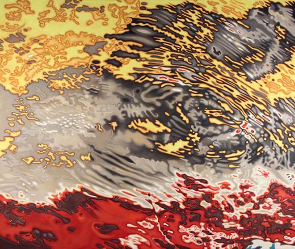 "Danielle Eubank, ""Mozambique IX,"" Oil on linen canvas, 60x72 inches, 2011"