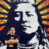 Photo of Native American Street Artist Votan Henriquez