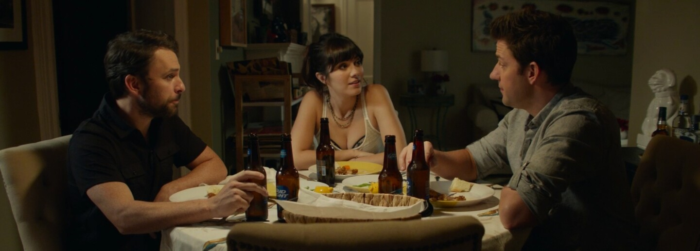 "Charlie Day, Mary Elizabeth Winstead and John Krasinski in ""The Hollars"""