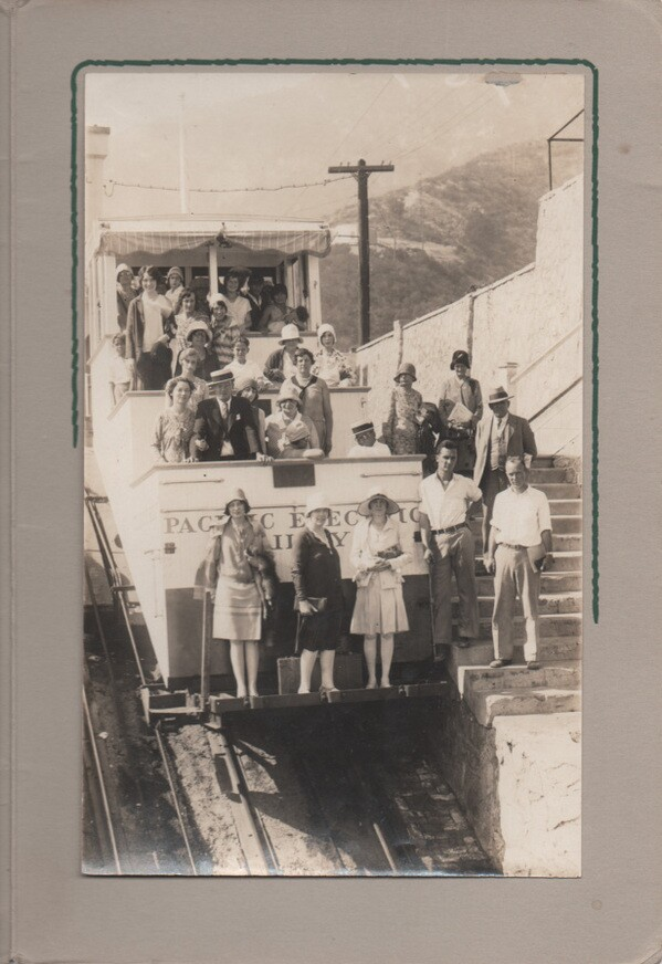 Frank, grandfather of Mike Sonksen, is an eleven-year-old boy in this photo of Mt. Lowe Railway taken August 20, 1929. Photo courtesy Mike Sonksen